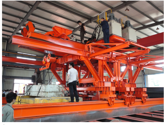 Custom Bridge Beam Segment Lifter With Electric Winches