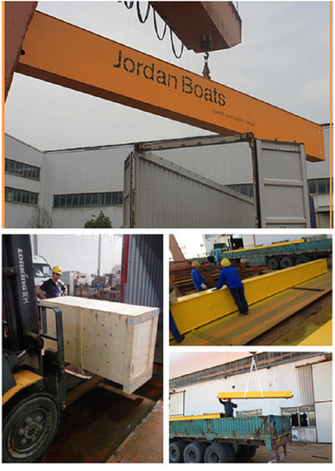 MG100t - 38m - 20m Box Girder Yard A-Shape Crane Gantry For machinery factory 2