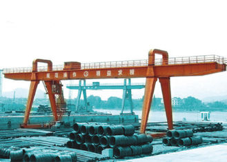 چین MG100t - 38m - 20m Box Girder Yard A-Shape Crane Gantry For machinery factory تامین کننده
