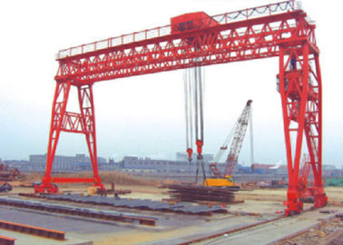 Red / Yellow Economical 70t Truss Gantry Crane For Stockyards / Machinery Factory European standard