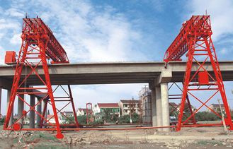 چین QM70T- 30M - 22M Bridge Construction Site Truss Double Girder Gantry Crane تامین کننده