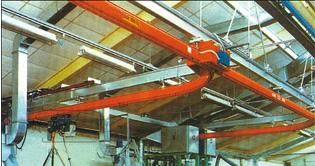 چین Single Track Suspension Light Crane Systems With Single-track , Single Beam تامین کننده