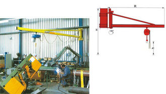 BZ3t Light Duty Wall Mounted Slewing Jib Cranes for Plant Room Maintenance