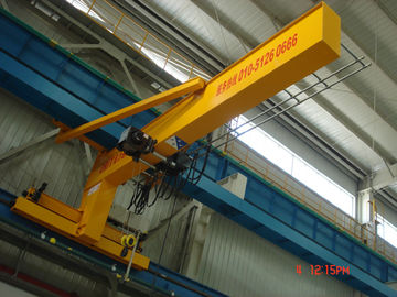 چین Compacted Frame Wall Traveling Truck Jib Cranes For Fitting & Fabrication Workstation کارخانه